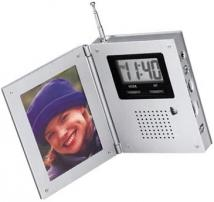 AM/FM Radio Alarm Clock W/Picture Frame
