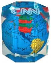 Global Paperweight, Octagon Shape
