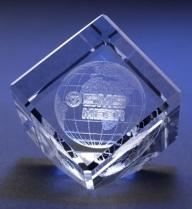Crystal Cube With Cut Corners
