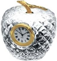 Crystal Apple With Clock