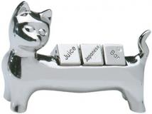 Chrome Plated Cat Stand With Dice or Decision Maker