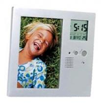 Two-ways Picture Frame Recorder Alarm Clock & Thermometer