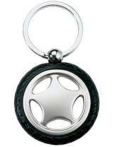 Rubber Metal Tire Key Chain