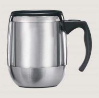 14 oz. VisionSteel Office Mug With Lid