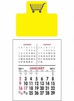 Magna-stick - Three Month Vertical Calendar Pad