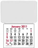 Press-N-Stick Business Card Holder Calendar-Without ad message