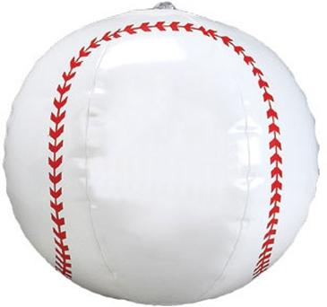"9"" Baseball Beach Ball"