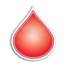 Water/Blood Droplet Magnet - .030 Thickness