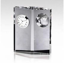 Optica Crystal Clock With Globe