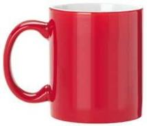 Ceramic Red/White Interior Mug 11oz.