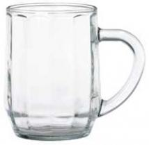 Glassware Clear Glass Optic Haworth Mug 10oz.