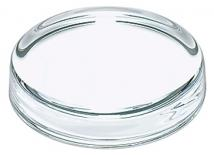 "Glassware Paper Weight 5/16"" H X 3 3/8"" Diameter"