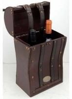 Essentials Tesoro II Wooden Double Wine Box