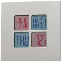 "Digital Clock 6 3/4"" W x 6 3/4"" H"