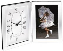 "4""x6"" Photo Frame & Hinged Clock 10"" x 7"""