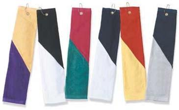 16 X 26 Hemmed 2-ply Velour Two-tone Sport Towel Tri-folded