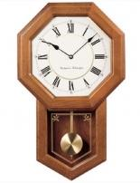 Oak Case Schoolhouse Wall Clock