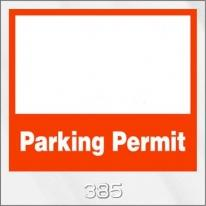Inside Parking Permits - Clear Static Cling - Not Numbered