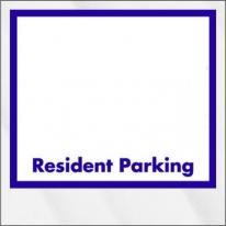 Inside Parking Permits -Clear Static Cling - Not Numbered