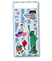 Patriotic Liberty Stickers - 3 1/4 X 7 Sheet