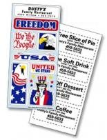 Patriotic Freedom Stickers - 3 1/4 X 7 Sheet