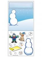 Peel N Play Stickers - Snowman