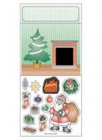 Peel N Play Stickers - Santa Down The Chimney