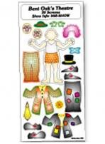 Peel N Play Stickers - Clown - 3 1/4 X 7 Sheet