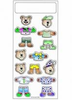 Peel N Play Stickers - Bears - 3 1/4 X 7