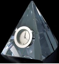 Crystal Triangular Shaped Mini Desk Clock