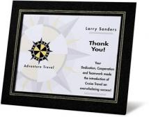 Textured Black/Gold Accents - Certificate Holders