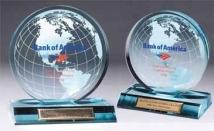 Jade Acrylic Award With Globe - Silkscreen