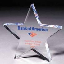 3/4 Star Paperweight - Silkscreen