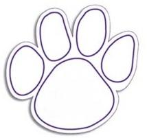 Stock Shaped Magnets - Dog Paw