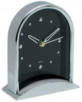 Elegant Chrome Finished Clock With Black Accents