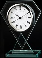Diamond Shaped Glass Alarm Clock