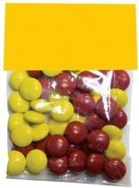 Candy Bags With Header Cards - Red Hots Jelly Beans Gum