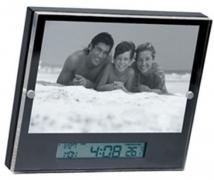 4 X 6 Picture Frame/Clock, Date & Temp