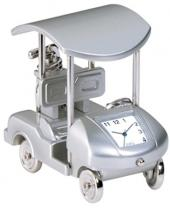 Metal Golf Cart With Built in Clock