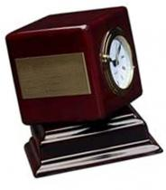 Rosewood Swivel Clock