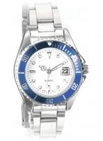 Watch With Blue Rotating Bezel