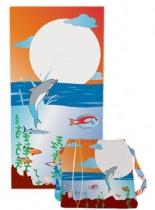 Back Pack Velour Beach Towel