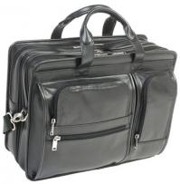 Mcklein Hubbard Leather Double Compartment Laptop Case