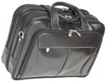 Pearson Leather Expendable Double Compartment Briefcase