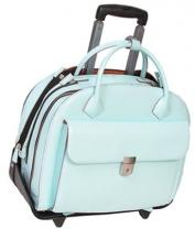 Mcklein Glen Ellyn Leather Detachable-wheeled Womens Case