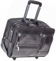 Clinton Leather 17-inch Detachable-wheeled Laptop Case