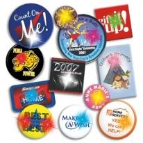 "Pin Back Buttons 1"" Round"