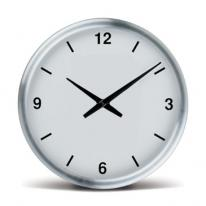 "13"" Magnum Brushed Metal Wall Clock"