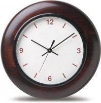 "12"" Mahogany Wood Wall Clock"