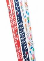 3/8 Multi-Color Sublimation Lanyard